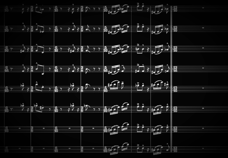 Marko Markus - 4-4-3-2 for big band, fragment